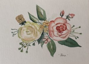 virágok akvarell