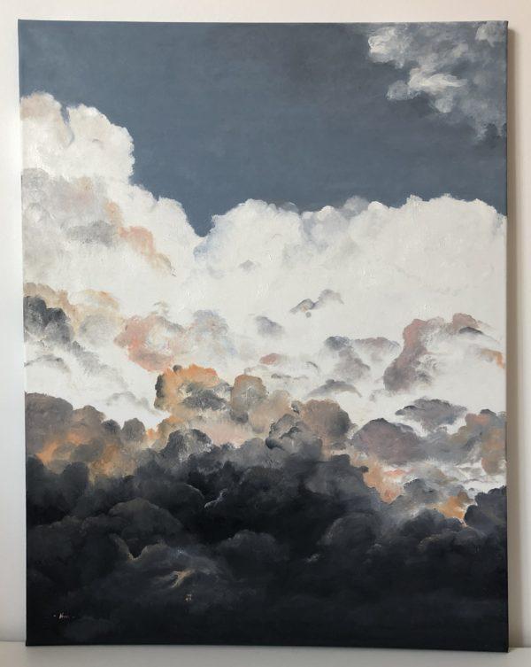 felhők olajfestmény