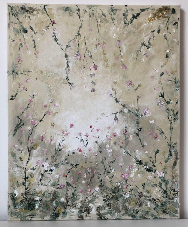 olajfestmény virágos rét