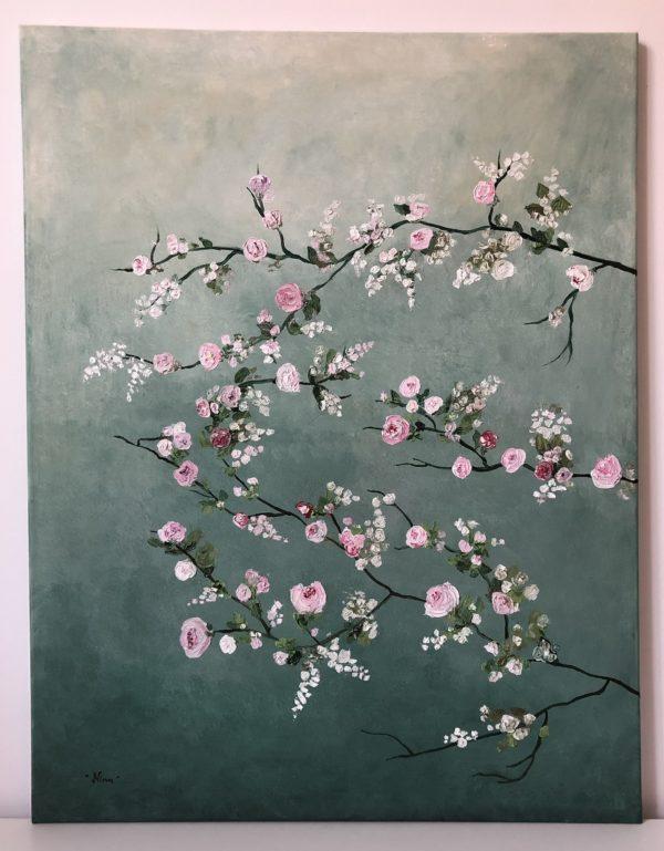 virágzás olajfestmény